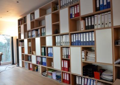 Bibliothèque chêne naturel