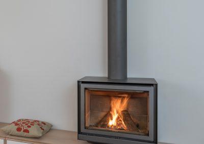 detail cheminee chene blanchi