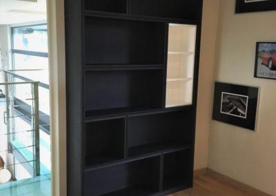 Bookcase 25cm Ebeny oak