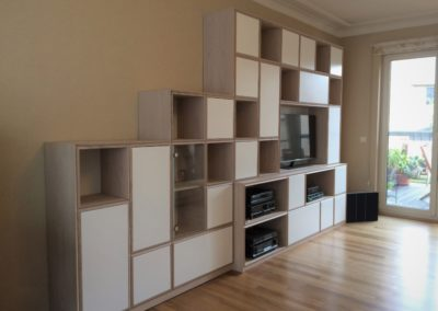 Bookcase -TV- Stair style