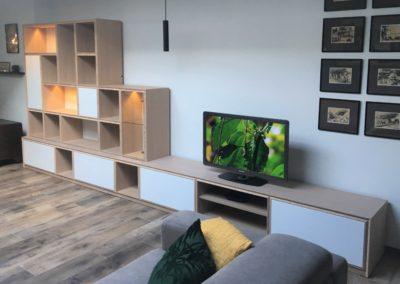 Bibliothèque -TV- Banquette